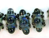 Abyss, A handmade lampwork bead set