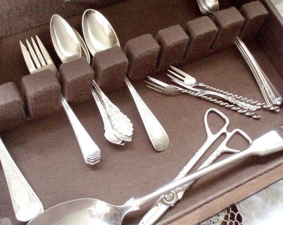 Vintage Silver Cutlery Storage Chest Steiff Silver Company Baltimore 1970s