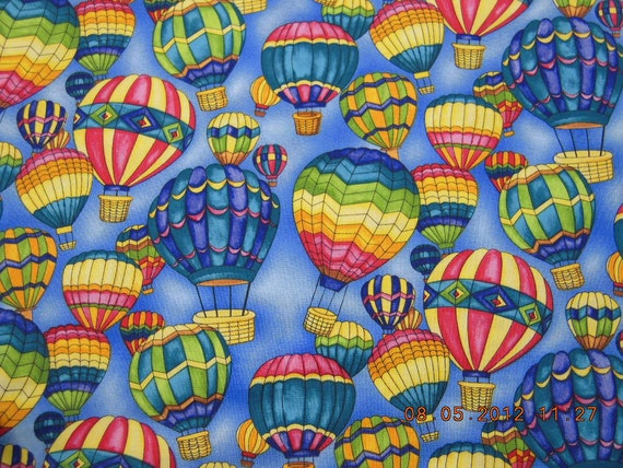 Hot Air Balloons Cotton Material ,  4 2/3 yds