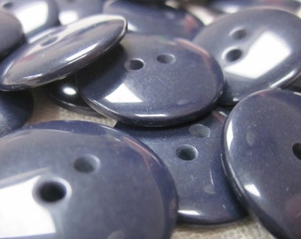 Plain Gloss Dark Navy Blue Buttons 20mm 24 pieces