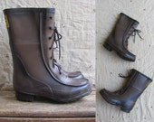 vintage c. 1970s lace up rubber boots // LOG MASTER