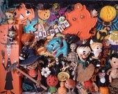OOAK Fun and Funky Halloween Kitsch Collage Shadowbox