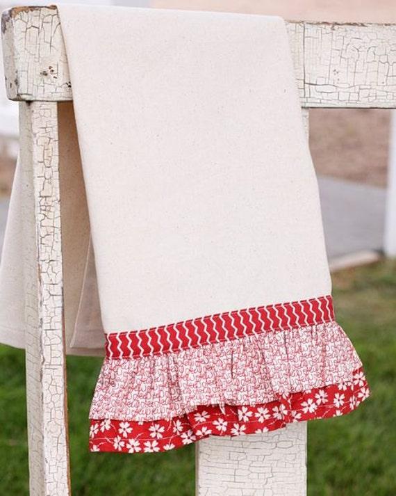 Mama Said Sew - Red Ruffle Towel Kit