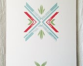 Folk Pattern 2 Screen Print