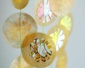 Vintage Storybook Stitched Wax Paper Garland Flowers