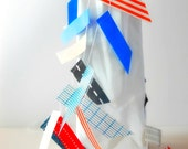 Patriotic Red, White and Blue Washi Flag Stitched Garland - as seen Front Page Etsy SALE - 3girlsandagoat