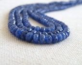 Blue Sapphire Rondelle Gemstone Burmese Faceted Navy Blue 3mm Wholesale