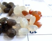 Multi Moonstone Gemstone Faceted Pear teardrop Briolette 9.5 to 11mm 22 beads 1/2 Strand