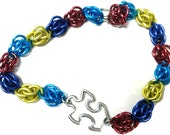 Autism Awareness Puzzle Chainmaille Bracelet