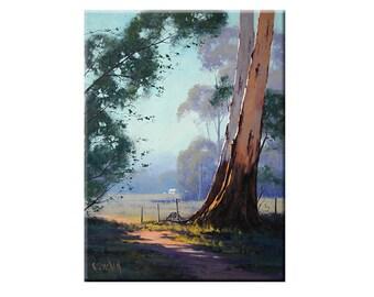 Paintings of trees ORIGINAL oil Painting Australian Eucalyptus trees landscape by G.Gercken