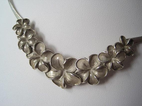 Vintage Sterling Collar Necklace - Kabana