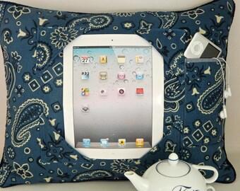 iPad Pillow in Blue Bananda