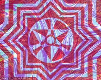 """Fire Mandala 8.5""""x11"""" giclee print"""