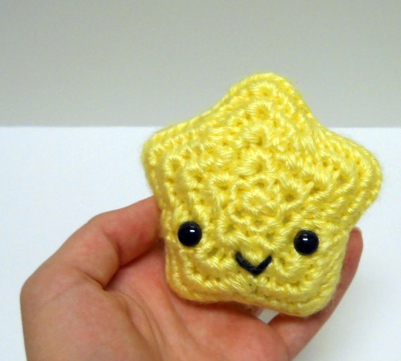 Yellow Lil' Star - Ready to Ship - Crocheted Plushie