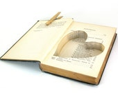 Wedding - Vintage Hollow Book Safe with Heart -   Imagination and Dramatic Instinct