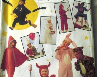 Halloween Childs Costume Pattern Devil, Rabbit, Witch, Tiger, Clown, Riding Hood, Sports