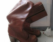BOOTS LEATHER SEVENTIES Boho