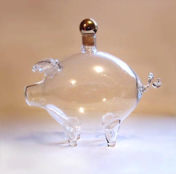 Vintage Glass Pig Perfume Bottle By Vintagepennylane On Etsy