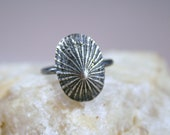 Fine silver Opihi Shell Ring