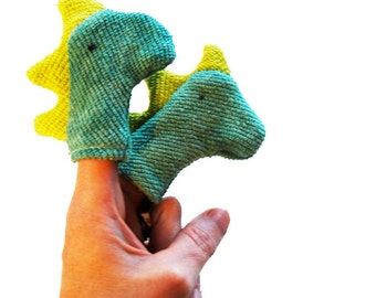 Eco Organic Finger Puppet Dinosaur Dragon Toddler Boy Toy