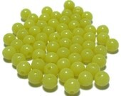 6mm Smooth Round Acrylic Beads in Green Grape color 100pcs