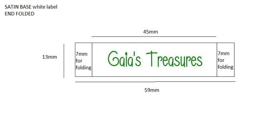 650 Custom SATIN BASE woven labels RESERVED for Gaia's Treasures