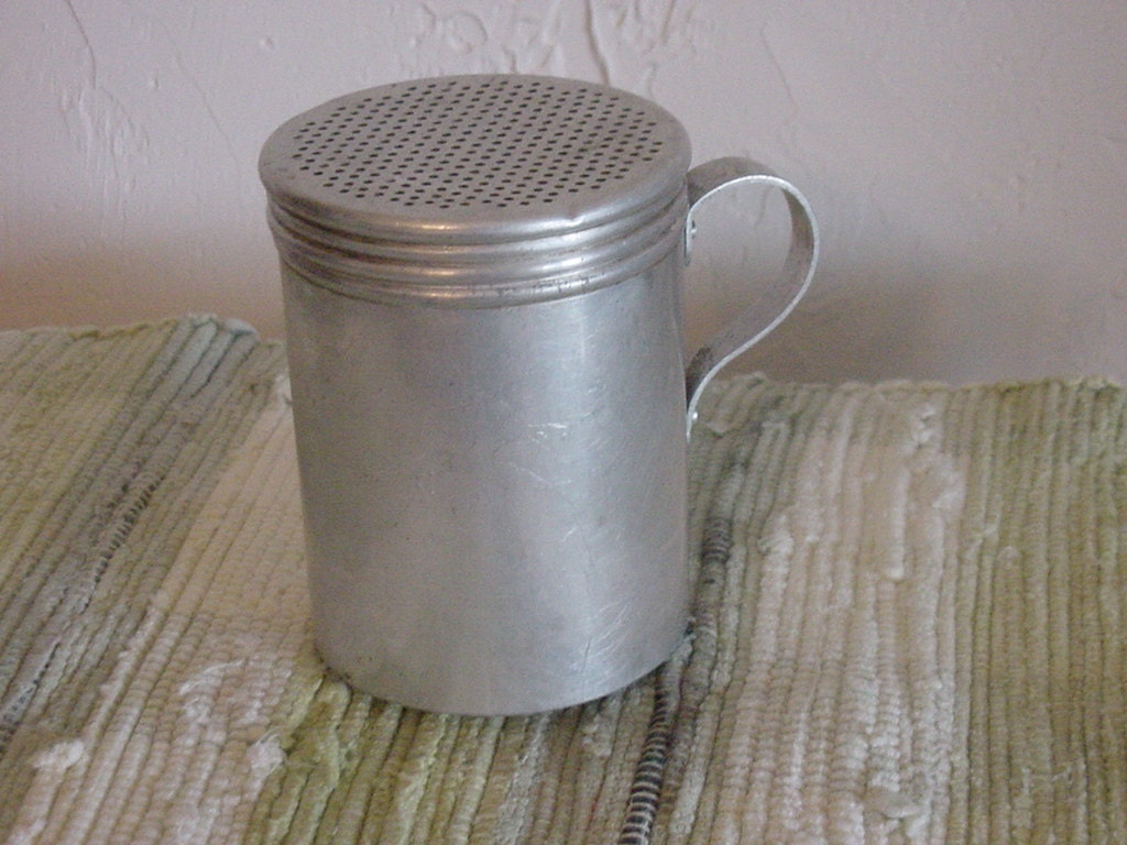 Old Vintage Sugar Shaker Aluminum Tin By Anteeker On Etsy