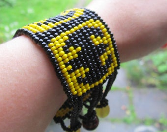 Batman hand beaded bracelet