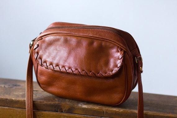 Tan Brown Genuine Leather Forenza Mini Crossbody Purse