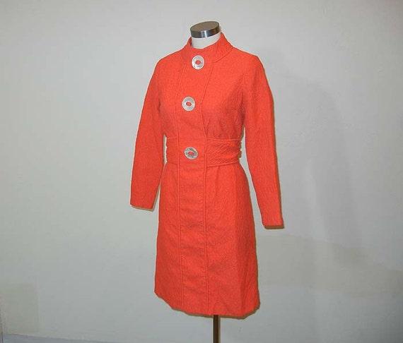 1960s dress / Orange Crush Vintage 60's Mod Dress