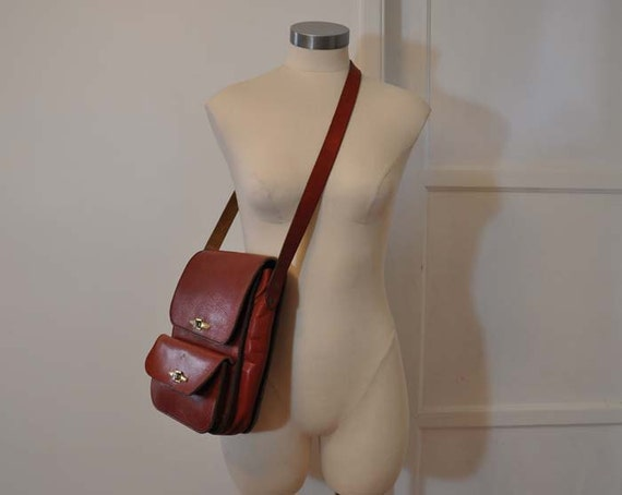 Reserved for Oemm Aymen 70's Purse /  Double Happiness Vintage 1970's Boho Leather Hippie Bag