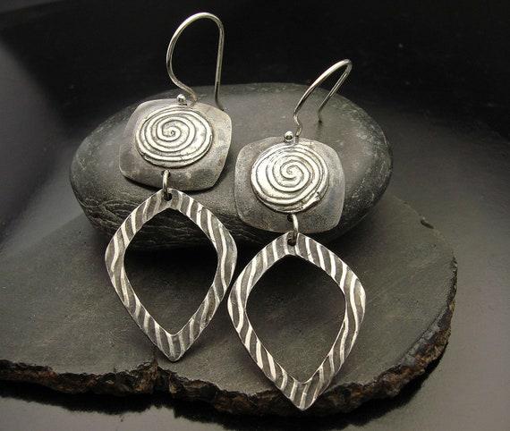 Tidal Wave - Sterling Silver Earrings