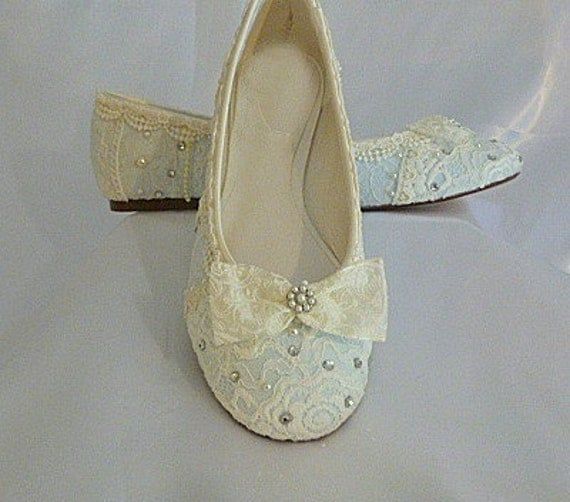 Something Blue Wedding Flats . Bridal Ballet Flat . Vintage Lace Wedding Shoes . Bridal Shoes . Lacy Flats. Custom Designs . Free US Postage