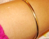 vintage simple silver stacking bangle