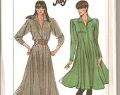 Simplicity 8229 Vintage 80s Loose Fitting Dress Sewing Pattern Size 12 14 16