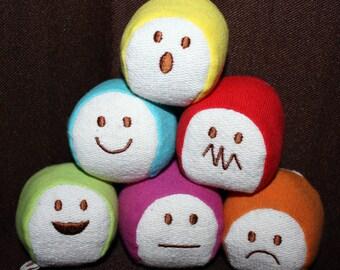 Emotions Balls Organic Cotton - Play Set of 6