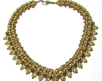 AMARYLLIS SuperDuo Beadwork Necklace  tutorial instructions for personal use only