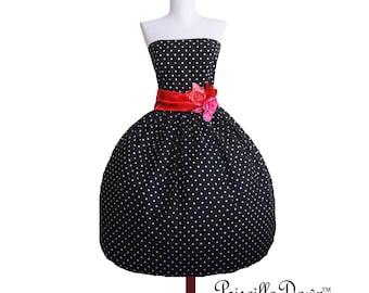 Custom in your size Polkadot Rockabilly Dress