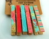 Sweet and Sassy Fancy Clothespins Set of 6
