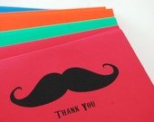Thank You Cards The Primary Set of 12 Choose Your Image Mustache Fox Bicycle Custom