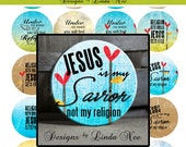 Pinback BUTTON Images 1.25 inch round 1.629 overall size - CHRISTian Jesus Reigns Digital Collage Sheet AMERICAN BUTTON Machine and Tecre