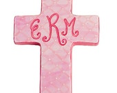 Personalized Hand Painted Small Wall Cross - Choose your color