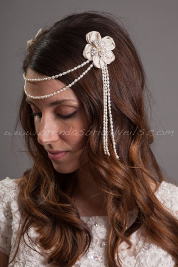 Bohemian Style Headpiece Bridal Hair Flower by ...