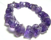 """Full 7"""" Strand -  African Amethyst Fancy Hammered Nuggets -Size -9-17mm"""