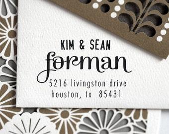 Self Inking Address Stamp, Custom address stamp, Return address stamp, wedding gift, personalized stamp - 3002