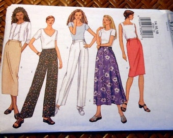 Pattern - Misses/Miss Petite Pull-on Skirt and Pants - Size 14 to 18
