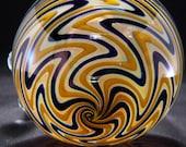 Handblown Glass Jar---Majestic Glass Arts---
