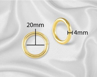 "20pcs - 3/4"" Metal O Rings Three Quarter Non Welded Gold - Free Shipping (O-RING ORG-102)"