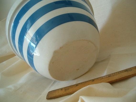 Blue and White Stripe Bowl