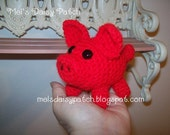 This LIttle Piggy Wants To Be A Razorback PDF Crochet Pattern